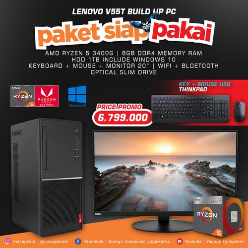 Foto Produk LENOVO V55T 15API-0D00 AMD RYZEN 3400G DESKTOP TOWER PC BUILD BUILT UP dari YOUNGS COMPUTER