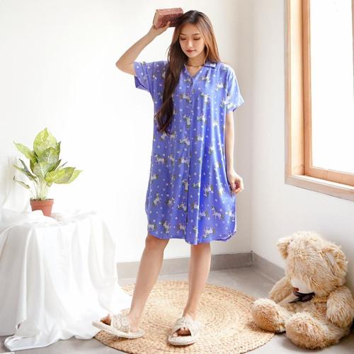 Foto Produk Daster Baju Tidur Wanita Cewek Midi Kancing Piyama Pajamas Dress Vol.2 - Unicorn dari Polkadots Babies & Kids