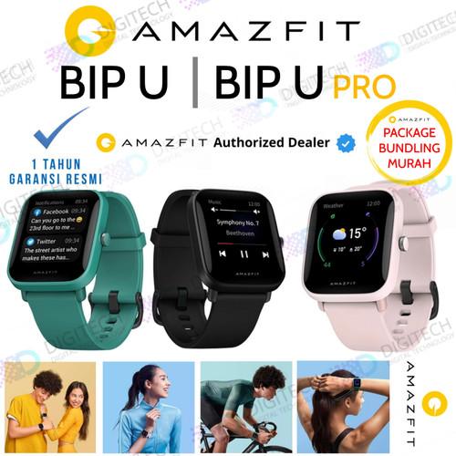 Foto Produk Amazfit Bip U Smartwatch Sport Jam Tangan Digital Smart Watch - Bip U - Hitam, Paket Standart dari Digital Technology Official Store