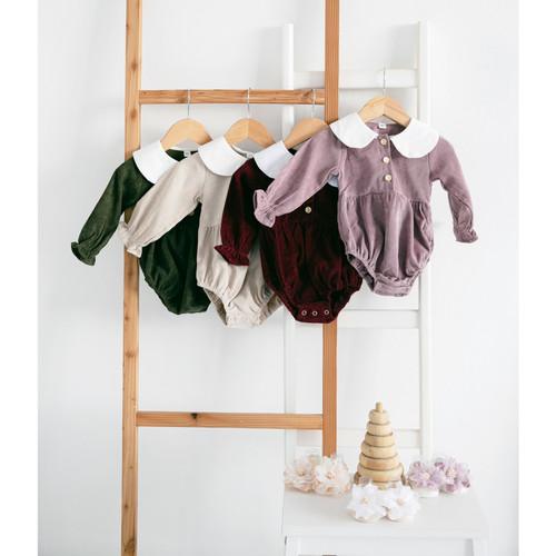 Foto Produk Ohbabydays x Little Sosete   Ready Stock   Corduroy Romper + Socks - 3-6 Bulan, Merah Muda dari Ohbabydays