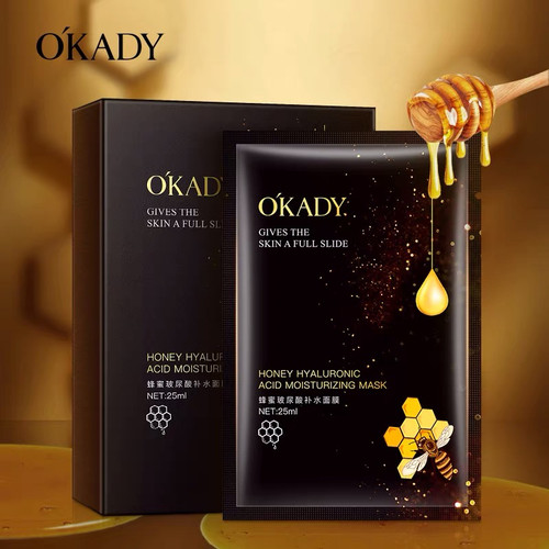Foto Produk OKADY HONEY HYALURONIC ACID MOISTURIZING MASK MASKER WAJAH WANITA KORE dari Bursa Cosmetik Murah
