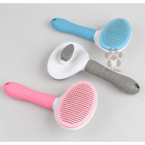 Foto Produk Sisir Grooming Anjing Kucing   Pet Grooming Brush High Quality Import - Pink dari Petpaw.id