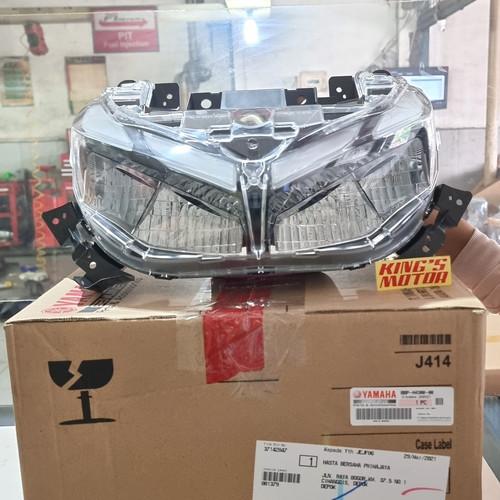 Foto Produk LAMPU DEPAN, REFLEKTOR, REFLECTOR, HEADLIGHT NEW AEROX 155 CONNECTED dari King'S Motor
