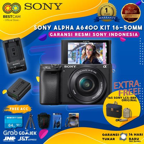 Foto Produk Sony Alpha a6400 Mirrorless Kit 16-50mm - Free Accessories dari BestCam