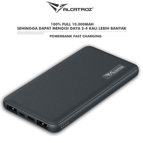 Foto Produk Alcatroz Tzla REAL 10000mAh PowerBank Fast Charging + Type C - Hitam dari Alcatroz Official Store