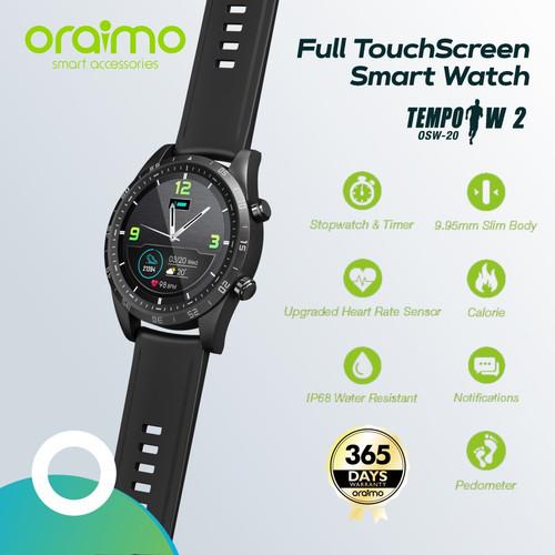 Foto Produk Oraimo Smart Watch Jam Tangan Pintar Full Touch Screen Slim OSW-20 - Hitam dari forgadgetstore