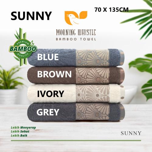 Foto Produk Handuk Mandi Dewasa Premium Terry Palmer Cotton Bamboo Sunny 70x135 - ivory white dari HKCL Shop