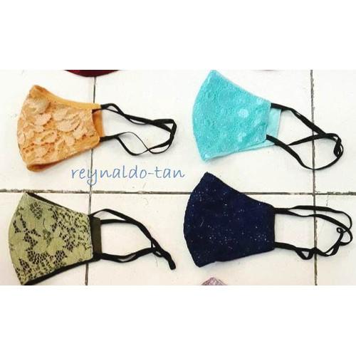 Foto Produk 12 Pcs Masker Monyong Tali Hijab Bahan Blukat Kualitas Oke Nyaman dari reynaldo-tan