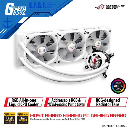Foto Produk ASUS ROG STRIX LC 360 RGB GUNDAM EDITION WHITE AIO LIQUID CPU COOLER dari YOUNGS COMPUTER