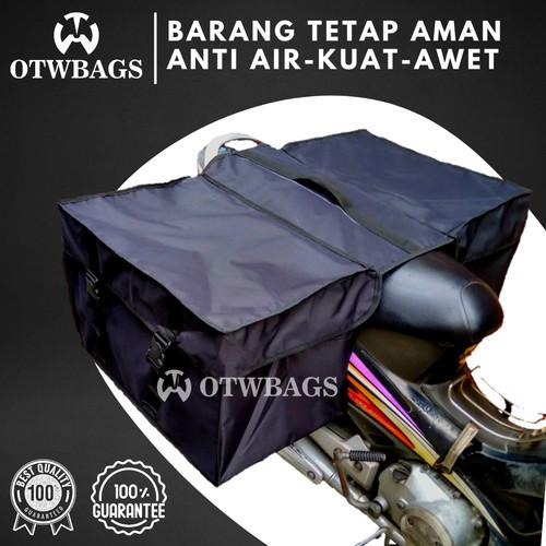Foto Produk Tas Motor Anti Air Besar Warna Hitam List Hitam dari OTWBAGS