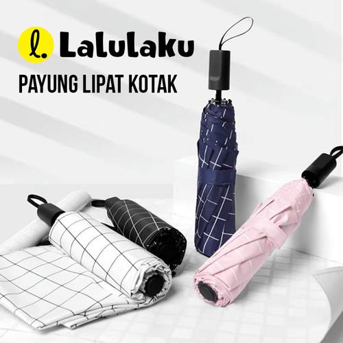 Foto Produk Payung Lipat Motif Kotak Besar Umberlla Gift Souvenir Anti UV - Pink dari Lalulaku