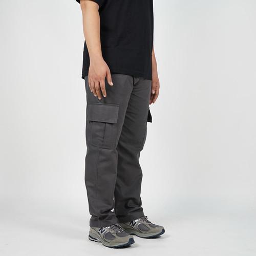 Foto Produk Daily Outfits - Celana Panjang Pria Cargo Canvas Abu Premium Quality - M dari Daily Outfits DYO