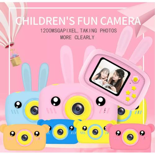 Foto Produk Kids Camera Kamera Mini Anak Camera Anak Camera X9 12MP FULL HD 2inc - Merah Muda, Bear dari Gadget Definition