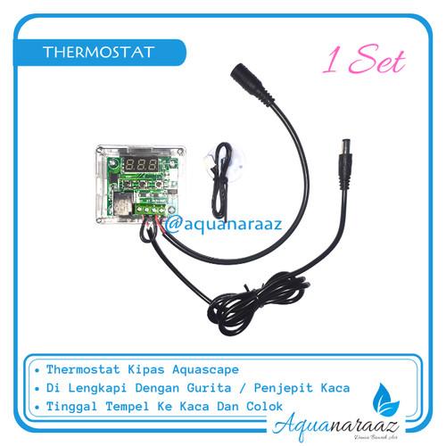 Foto Produk Termostat Kipas Aquascape DC 12Volt Termometer Otomatis Pengukur Suhu - Dengan Gurita dari Aquanaraaz
