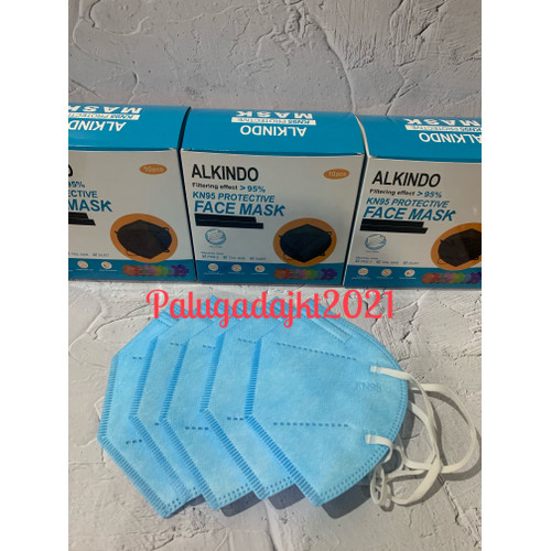 Foto Produk [ ALKINDO ] Masker KN95 masker KN 95 5ply warna warni isi 10pcs - Biru Muda dari Palugadajkt2021