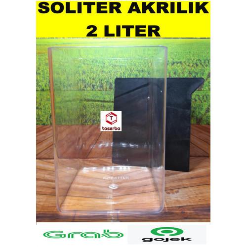Foto Produk SOLITER TOPLES CUPANG AKRILIK 2 LITER dari My Toserba ID