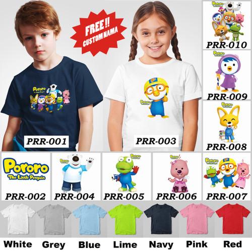 Foto Produk Kaos / Baju Anak Pororo [Unisex] - 8 Motif/Design - dari Little Orca