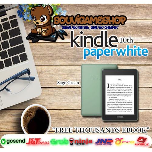 Foto Produk Amazon Kindle Paperwhite 10th Gen EBook Reader Waterproof 32GB Ads - SAGE dari souvigameshop