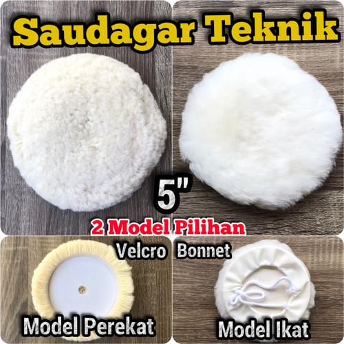 "Foto Produk Wool Woll Poles 5 inch Velcro Bulu Poles Polishing Pad 5"" - Velcro dari Saudagar Teknik"