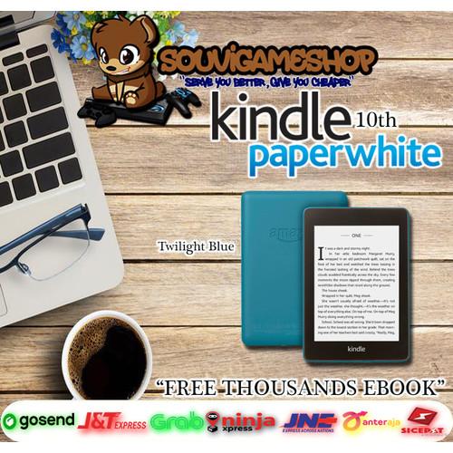 Foto Produk Amazon Kindle Paperwhite 10th Gen EBook Reader Waterproof 8GB Ads - TWILIGHT BLUE dari souvigameshop
