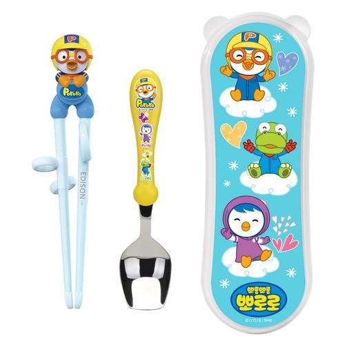 Foto Produk Edison Chopstick Spoon + Case - Pororo dari Marveila & Friends