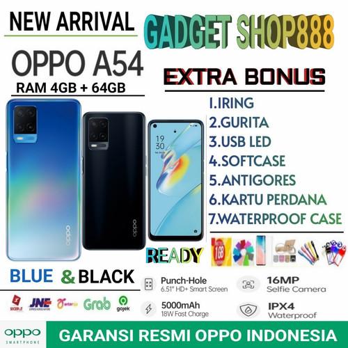 Foto Produk OPPO A54 RAM 4/64 GB GARANSI RESMI OPPO INDONESIA - Blue no bonus dari Gadget Shop888