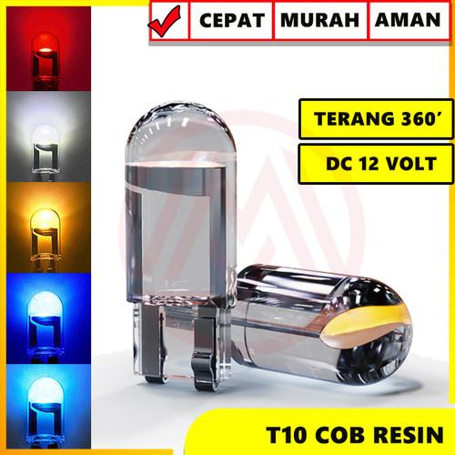 Foto Produk LAMPU LED T10 RESIN FULL KACA 360 LAMPU SENJA LAMPU PLAT SUPER BRIGHT - Biru dari Modifikasi Market