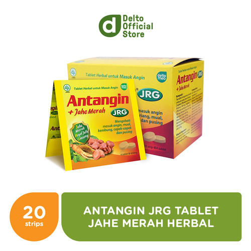 Foto Produk Antangin JRG Tablet + Jahe Merah Herbal Box (20 Strips isi 4 tab) dari Deltomed Store