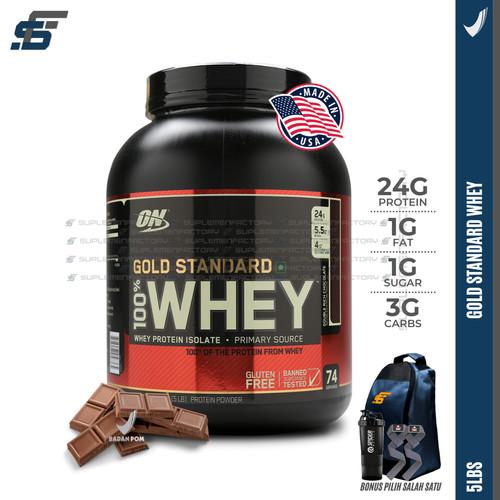 Foto Produk ON Whey Gold Standard 5lbs Optimum Nutrition Whey Protein - Coklat dari suplemenfactory