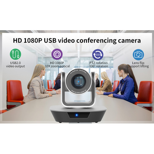 Foto Produk Conference Robotic Webcam PTZ 10X Optical Zoom FullHD Camera HSD-VC210 dari EtalaseBelanja