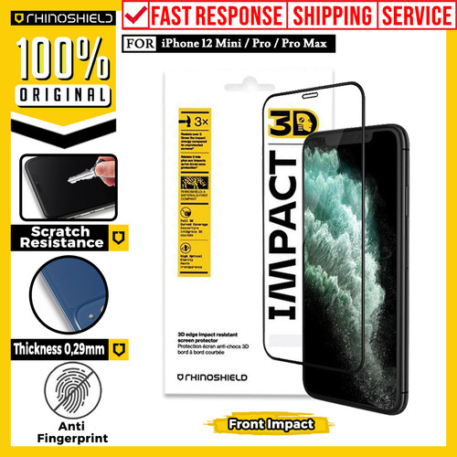 Foto Produk Screen Protector iPhone 12 Pro Max 12 Mini Rhinoshield 3D Impact Guard - 12 Pro Max, Back Screen dari Unicase Store