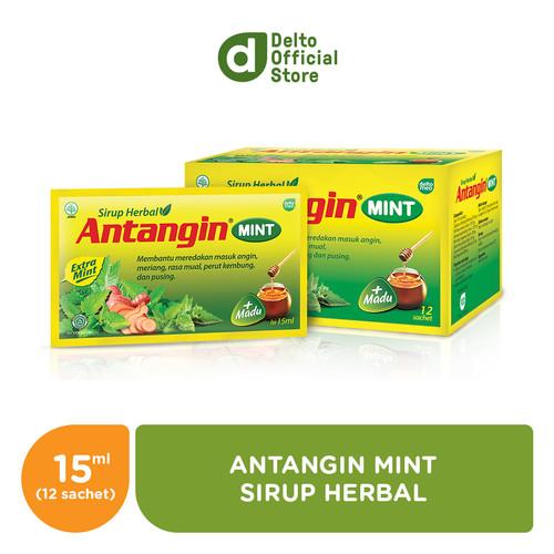 Foto Produk Antangin Mint Sirup Herbal Box (12 sachet) - Mengatasi Masuk Angin dari Deltomed Store