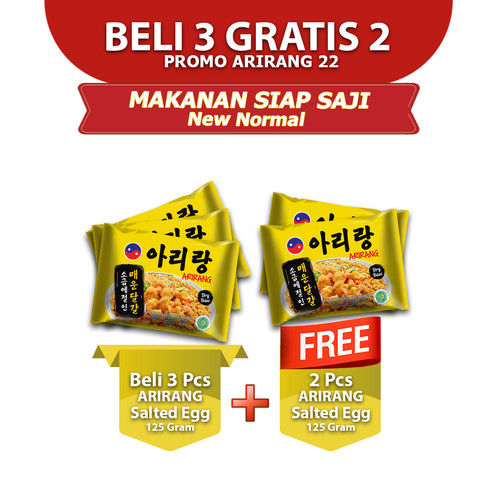 Foto Produk ARIRANG SALTED EGG 125g Beli 3 pcs FREE 2 pcs (AR22) dari Arirang Official Store