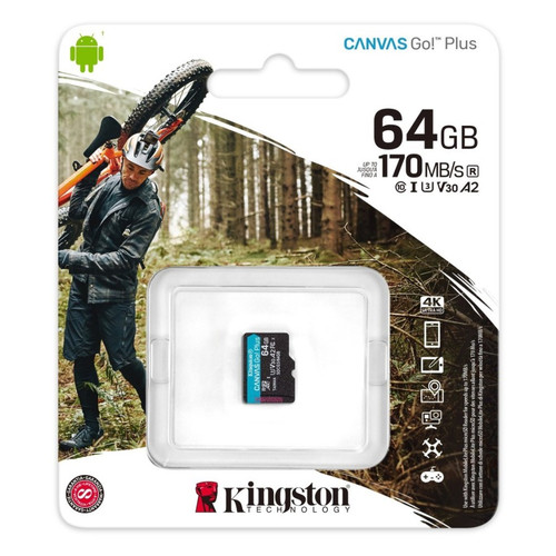 Foto Produk Micro SD Kingston Canvas 64gb GO Plus 4K 64 gb Memory Card MicroSD A2 dari PojokITcom Pusat IT Comp