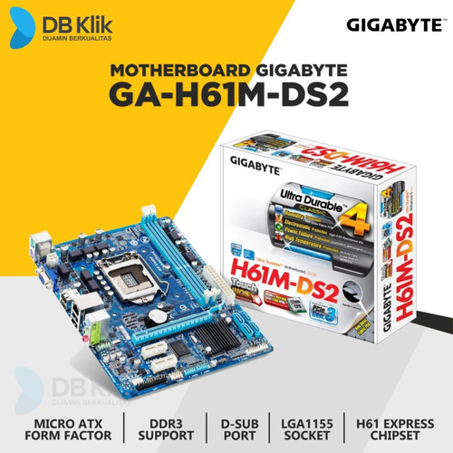 Foto Produk Motherboard Gigabyte GA-H61M-DS2 dari DBklik Semarang