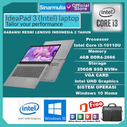 Foto Produk Laptop Lenovo IdeaPad Slim 3i i3-1005G1 256GB SSD 4GB WIN10+OHS MURAH - Platinum Grey dari Sinarmulia Sukses Makmur
