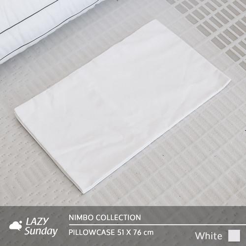 Foto Produk Sarung Bantal / Sarung Guling - Nimbo Collection - LAZY Sunday - White, Sarung Bantal dari LAZY Sunday Store