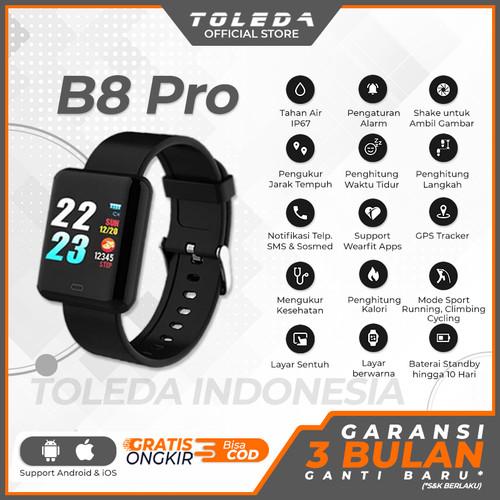 Foto Produk TOLEDA Smartband TLW B8 PRO Original 100% Smartwatch - GRATIS STRAP dari Toleda Indonesia