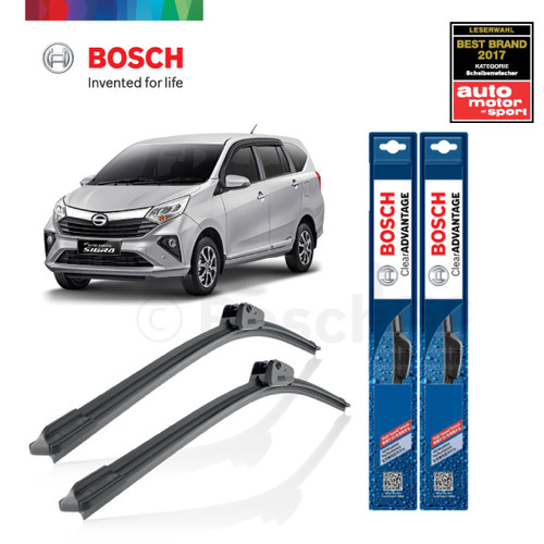 Foto Produk Wiper Mobil Frameless Daihatsu Sigra Sepasang Bosch Clear Advantage dari BOSCH Automotive
