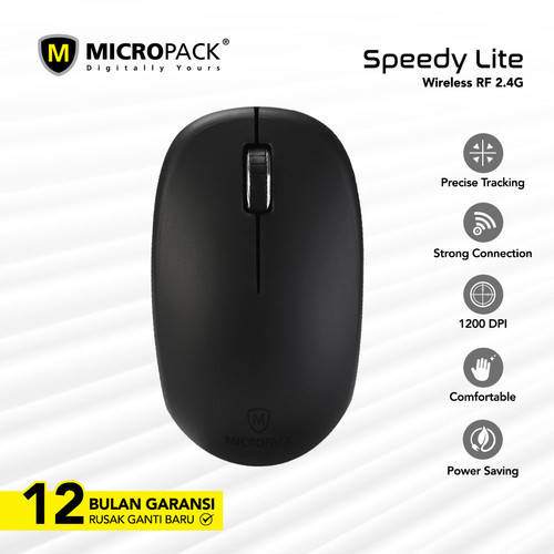 Foto Produk Micropack G-Laser Mouse Wireless MP-716W Series - Hitam dari Micropack Official Store