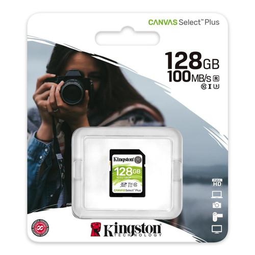 Foto Produk SD Card Kingston 128gb Canvas Select Plus 128 gb SDHC Class 10 Memory dari PojokITcom Pusat IT Comp