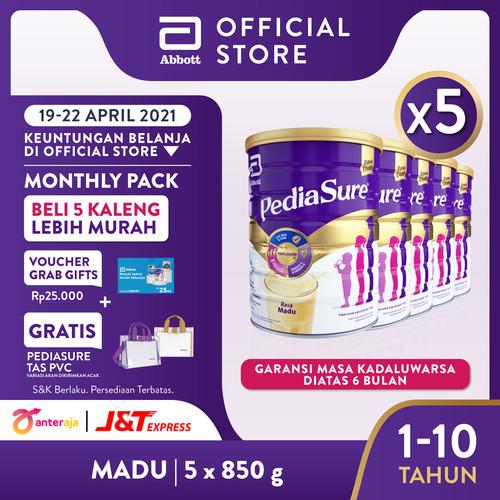 Foto Produk Pediasure Madu 850 g (1-10 tahun) Susu Formula Pertumbuhan - 5 klg dari Abbott Official Store