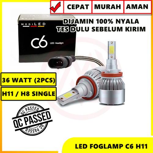 Foto Produk LAMPU LED C6 H11 H8 LAMPU FOGLAMP 36 WATT 12-24 VOLT SUPER BRIGHT 2PCS dari Modifikasi Market