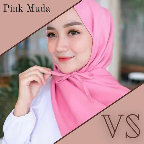 Foto Produk Pashmina Tali Diamond Hijab Instan | Pashmina instant Berkualitas - Pink Muda dari Veergie Store