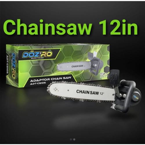 Foto Produk PRES Chainsaw Mini chain saw 12 inch Gergaji Potong Kayu Gerinda bitec dari TOKO BESI TIMUR JAYA
