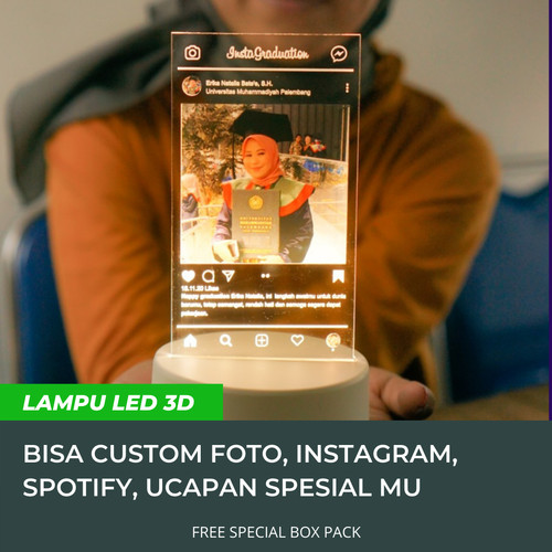 Foto Produk Plakat Lampu LED Custom Spotify Kado Unik - Instagram dari Kado Wisuda Jogja