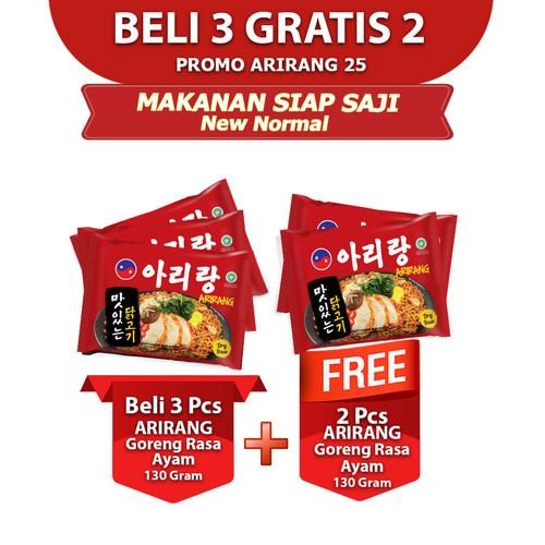 Foto Produk ARIRANG Goreng Rasa Ayam 130gr Beli 3pcs FREE 2pcs (AR25) dari Arirang Official Store