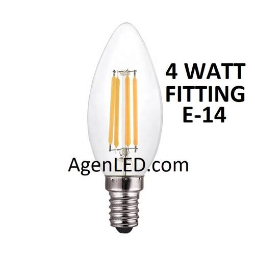 Foto Produk Lampu Candle Filamen 4W LED E14 Bohlam Lilin 4 w watt Filament C35 2 5 - C35 4 Watt dari AgenLED