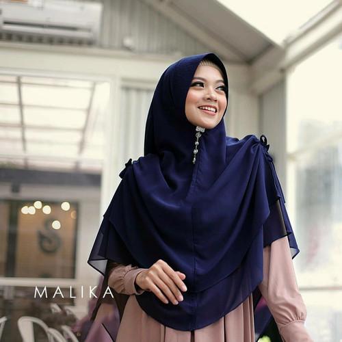 Foto Produk Jilbab Hijab Kerudung Instan Tali Kerut Khimar Malika Syari 2 Layer - Mocca dari gnuahijab