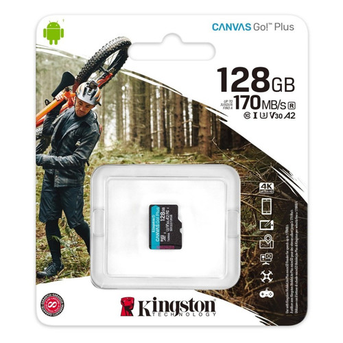 Foto Produk Micro SD Kingston Canvas 128gb GO Plus 4K 128 gb Memory Card MicroSD dari PojokITcom Pusat IT Comp